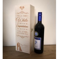 Personalised Wooden Wine Box - Congratulations