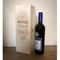 Personalised Wooden Wine Box - Wine O'Clock