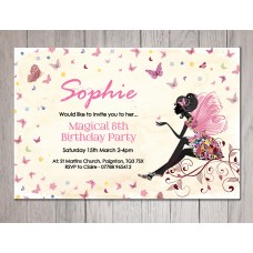 Fairy Theme Personalised Party Invitations