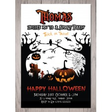 Personalised Halloween Party Invitation #1