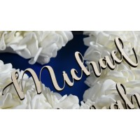 Name Place Setting for Weddings or Celebrations