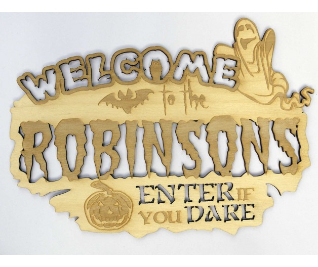 Personalised Halloween Sign / Plaque - Welcome To...