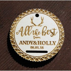 Personalised Laser Cut Wooden Gift Tag -  All the Best
