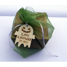 Laser Cut Wooden Gift Tag  - Happy Halloween