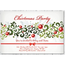 Personalised Christmas Party Invitation